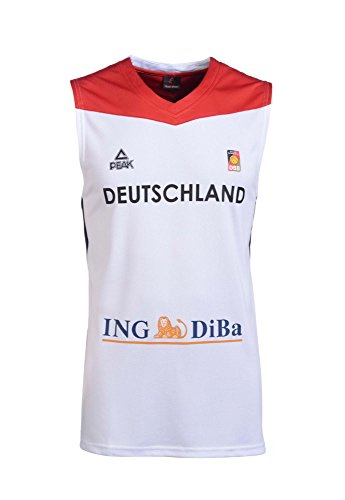 Peak Sport Europe Herren Peak Single Jersey Germany Men 2016 White Trikot, Weiß, 2XL