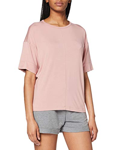 Calvin Klein S/s Curve Neck Top de Pijama, Rosa (Alluring Blush ABH), S para Mujer