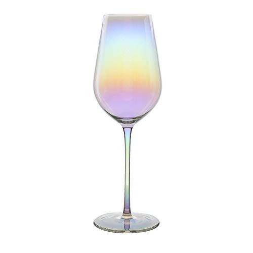 FFFLY Copa de Copa de Vino Tinto de Cristal Espesado sin Plomo de vástago Largo, Copa de cóctel de Cristal de Whisky Indestructible y Personalizado de Arte Moderno, Copa de Vino (Size : 500ml)