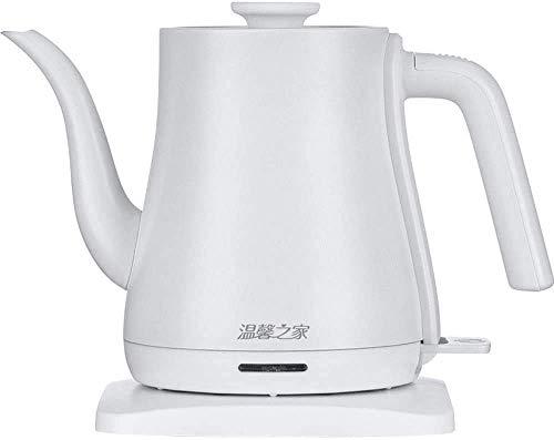 Panduo Bolsa de Picnic 316 Acero Inoxidable hervidor eléctrico de la Boca Larga Tea Pot Moda Hervidor eléctrico Calderas, Blanca (Color : White)