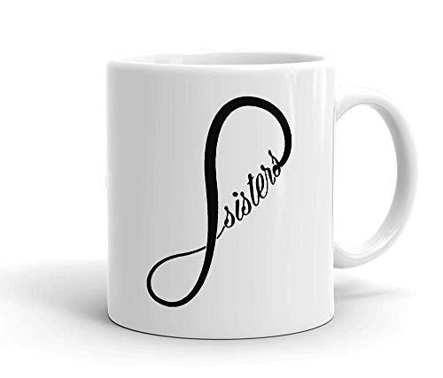 IDcommerce Sister Forever Tasse en Céramique Blanche pour Le Thé Et Le Café