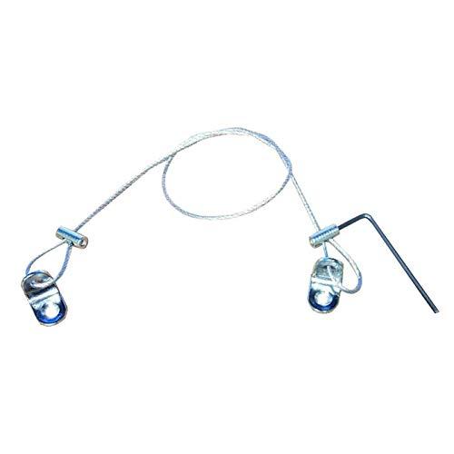 Steel Wire Rope Security Diefstal delay kit voor Computer Monitor CPU TV Chromecast Lock 2 Meter 5.56 Feet