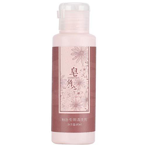 80ml Pincel de maquillaje Powder Puff Limpiador líquido Suave Profesional Puff Cleaner...
