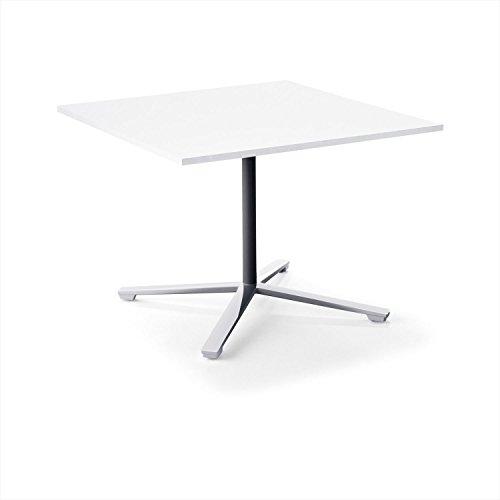 【配送・組立・設置込】 コクヨ ミーティングテーブル DAYS OFFICE flip top XY-TFT1010FPMCW 幅100×奥行100cm 天板グレインドホワイト/脚ポリッシュ