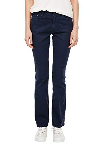 s.Oliver RED Label Damen Slim Fit: Bootcut-Jeans mit Bügelfalte Dark Steelblue 38.32