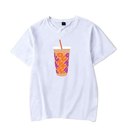 ZYPPX Charli Damelio T-shirt à manches courtes pour homme et femme avec imprimé graphique 3D Café glacé Éclaboussure T-shirt décontracté à col rond Blanc Taille 3XL