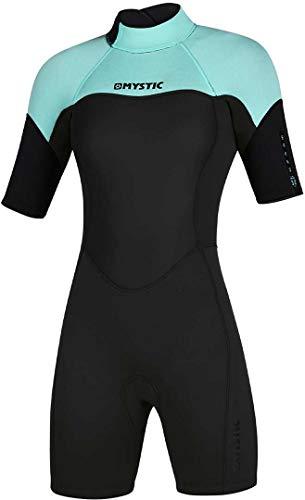 Mystic Watersports - Surf Kitesurf & Windsurfing Damen 3/2mm Back Zip Shorty Neoprenanzug - Mintgrün - Easy Stretch