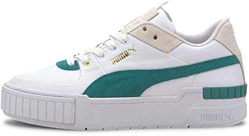 Puma - Womens Cali Sport Heritage Shoes, Size: 6.5 B(M) US, Color: Puma White/Teal Green