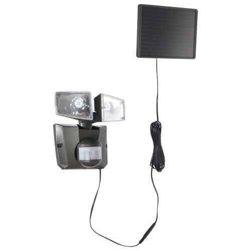 Globo 3717S - Foco led para exteriores con panel solar y sensor de movimiento