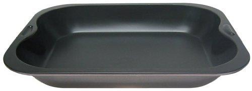Zenker Brat- und Auflaufform (28 x 4 x 23 cm) SPECIAL COOKING, rechteckige Ofenform mit Antihaftbebeschichtung, Backblech für krosse Braten & saftige Aufläufe (Farbe: Schwarz), Menge: 1 Stück