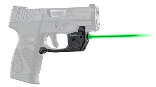 ArmaLaser Designed to fit Taurus PT111 PT140 Millenium G2 G2c G2s G3 G3c TR23G Green Laser Sight with Grip Activation