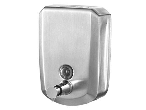 Bisk dispensador de jabón líquido con Cerradura con Llave, Plata, 500ml