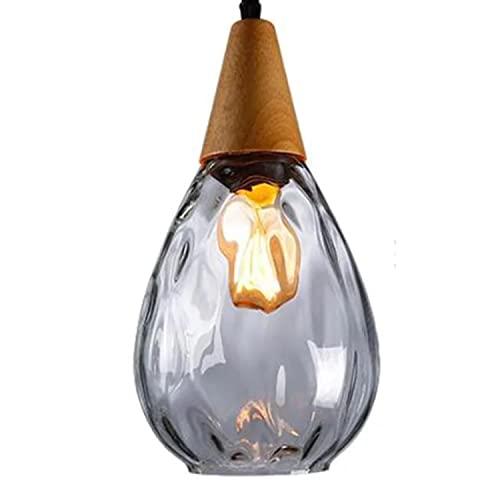 Lámparas de araña modernas, luz colgante lineal, lámpara incrustada de hierro forjado, linternas de la pantalla de vidrio de una sola cabeza, especificaciones de la bombilla E27, for la sala de estud