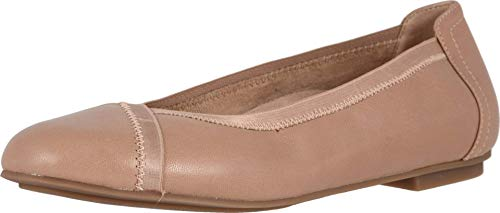 Vionic Women's Spark Caroll Ballet Flat - Ladies Dress Casual Shoes with Concealed Orthotic Arch Support Tan 10 Medium US