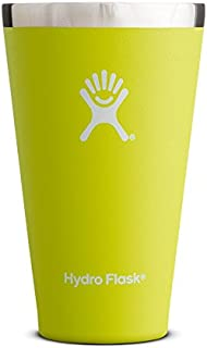 Hydro Flask 16 oz True Pint Cup for Beer or Cider - Stainless Steel & Vacuum Insulated - Stackable & Shatterproof - Citron