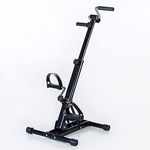 Ejercitador de pedales,Pedales dobles para brazos y piernas ajustables para interiores,máquina de fisioterapia para bicicletas de fitness para ancianos discapacitados/Black / 88x41x41cm