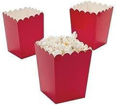 Fun Express Mini Popcorn Boxes - Red (4 Dozen)