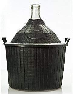 Damigiana in Vetro con Protezione di plastica Rigida e Tappo in PVC, per Alimenti, 54 Litri Made in Italy.Bottiglieri Casalinghi