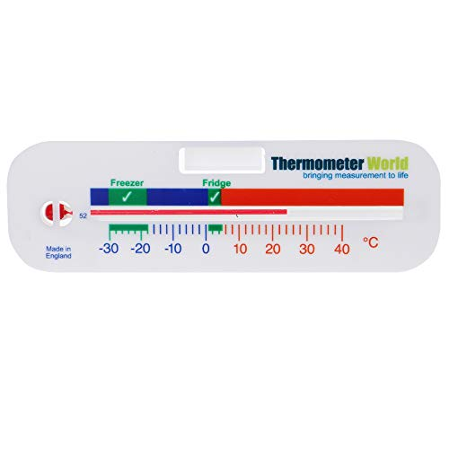 Fridge Thermometer - Can Also Be Used as a Freezer Thermometer For Refrigerator Chiller Cooler Temperature Gauge