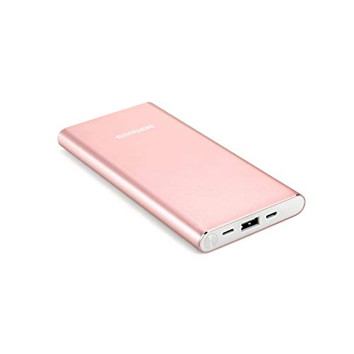 BESTMARS 10000mAh Quick Charge Portable Charger Fast Charging Power Bank Slim Back Up Battery Pack Compatible for iPhone X XS MAX XR 8 7 6 6s Plus 5s & iPad Android Samsung Galaxy Cell Phone Rose Gold