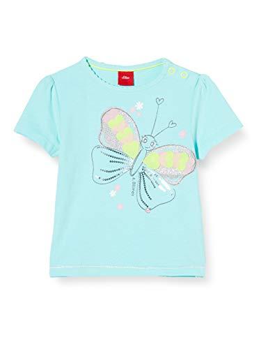 s.Oliver Junior Baby-Mädchen 405.10.004.12.130.2037944 T-Shirt, 6115 pfefferminze, 86