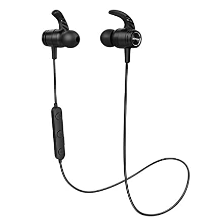 Mpow Auriculares Bluetooth 5.0, S10 IPX7 Deportivos Inalámbrico Magnético In Ear Estéreo CVC 8.0 Micrófono con Cancelación de Ruido para Deportes, Oficina en Casa, Trabajo