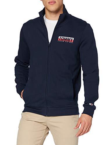 Tommy Jeans Herren TJM Graphic Zipthru Sweatshirt , Zwielichtmarine, XS