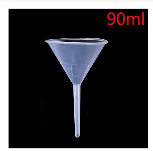 Lyexo trechter van kunststof, wit, transparant, voor laboratorium, diameter opening: 90 ml - 17