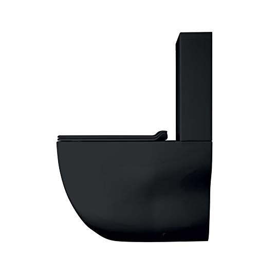 Ondyna Cristina - WC à poser - Pack WC complet WILD Blackmat sortie horizontale ou verticale- Cristina Ondyna WWL301313