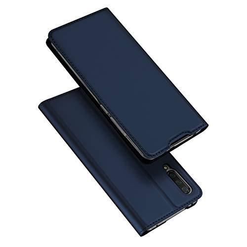 DUX DUCIS Hülle für Xiaomi Mi A3, Leder Flip Handyhülle Schutzhülle Tasche Hülle mit [Kickstand] [Kartenschlitz] [Magnetverschluss] für Xiaomi Mi A3 (Blau)