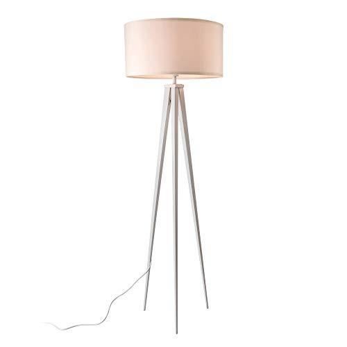 LUX-PRO Lámpara de pie Trípode Faro 3 Patas Altura 153 cm Moderna Diseño Iluminación Interior Luz efectiva Blanco 1 x E27 60W