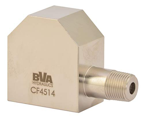 "BVA Hydraulic CF4514 Gauge Adaptor 45° 3/8"" - 18 NPTF to 3/8"" - 18 NPTF 10,000 PSI"