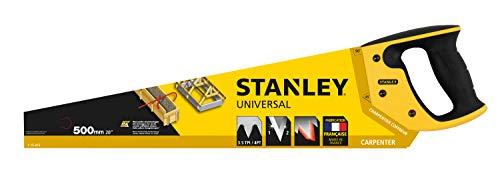 Stanley Handsäge (mit grober Verzahnung, gleichschenklige Verzahnung mit 3.5 Zähne/Inch, Kunststoffgriff) 1-15-416