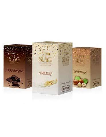 Siag Caffè 10 Stück Universal Kaffeepads mit Haselnuss Geschmack italienischer Espresso aus Neapel gerösteter Kaffee