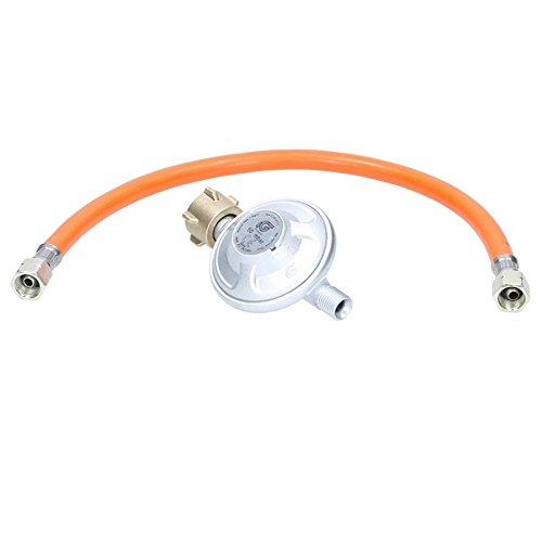 ECD Germany Druckminderer 50mbar Druckregler Gasregler Niederdruckregler Gasbrenner + Propanschlauch 40cm Gasdruckschlauch Gasschlauch