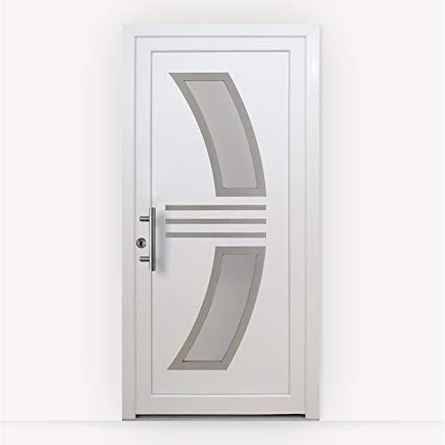 HORI® Haustür Monaco I Kunststoff Haustüre mit Glaseinsatz I Weiß I Größe 2080 x 880 mm I DIN links