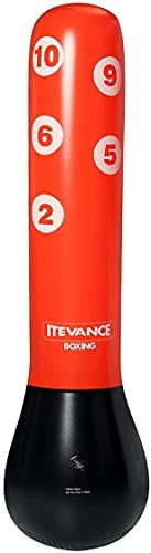 XJYDS Bolsa de Boxeo, Bolsas de perforación 1.55m / 1.6M Bolsa de perforación de tensión Inflable Boxeo Pasado de Entrenamiento Presión Alivio Atrás Bolsa de Arena Deporte Entrenamiento for niños