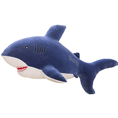 Clenp Juguetes De Peluche Súper Suaves - 40 / 50cm Lindo Pez Tiburón Simulado De Peluche De Juguete Suave Cojín De Almohada De Peluche Azul 50cm