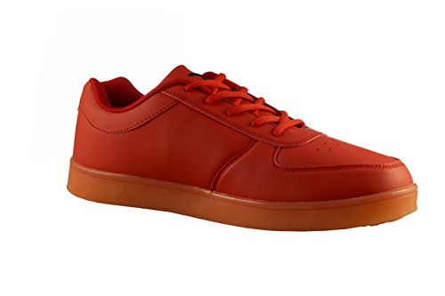 Wize & Ope The Light Earth Made LED 'All Red' Sneaker rot, Schuhgröße:EUR 42