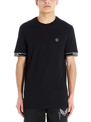 Luxury Fashion | Philipp Plein Heren MTK4492PJO002N02 Zwart Katoen T-shirts | Lente-zomer 20