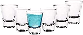MS Sales Glass Shot Glass for Vodka - 6 Pieces, Clear, 50 ml Glass Set (50 ml, Glass) (Pack of 6)