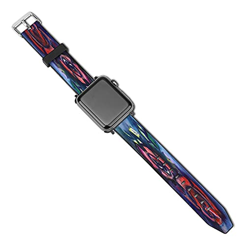 Decorative Rose Leather Strap With metal pin buckle,Adjustable,for Apple Watch