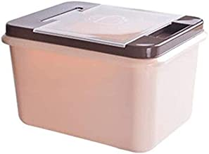 Nfudishpu Storage Box Kitchen Grain Container Rice Nfudishpu Storage Box Plastic 10/15kg Moisture Proof with Measuring Cup...
