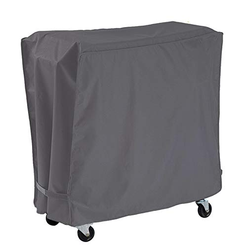 AKEfit Patio Cooler Cart Cover Waterproof with UV Coating, Fits Most 80 Quart Rolling Cooler Cart Cover, Outdoor Beverage Cart, Patio Ice Chest Protective Covers (Grey)