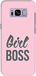 Stylizedd Samsung Galaxy S8 Plus Slim Snap Case Cover Matte Finish - Girl Boss -Pink