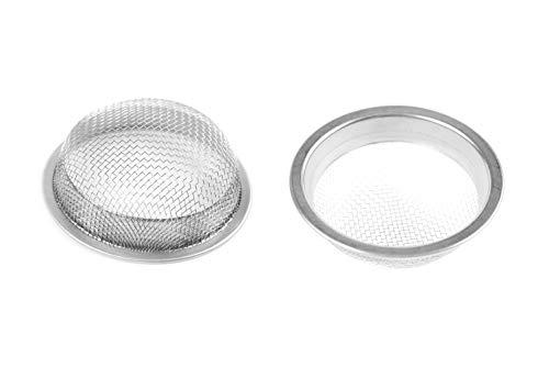 Höhlenrausch Shisha Sieb für Wasserpfeifen - vorgestanzter Tabak Auffangbehälter aus rostfreiem Edelstahl - Bowl Zubehör (20mm)