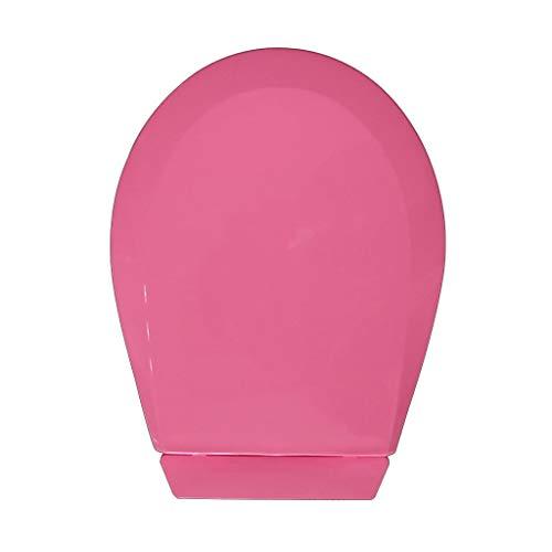 IAIZI Couleur Petit Siège De Toilette pour Bébé, Couvercle De Toilette pour Jardin d'enfants, Couvercle en PP pour Enfant, Fond Fixe (Color : Pink)