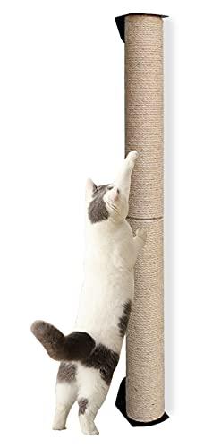 Wand Kratzsäule für Katzen,Katzen Kratzstamm, Kratzstamm Kratzsäule mit Schrauben(80 cm hoch)