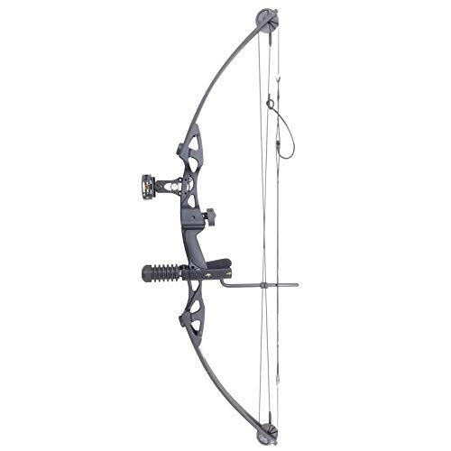 Siege SAS 55 lb 29'' Compound Bow w/ 5-Spot Paper Target, Black w/Package