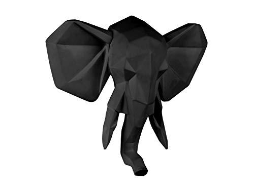 Present Time - Tête d'éléphant Noir Origami